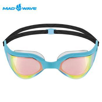 迈俄威MADWAVE镀橘镀彩成人泳镜M91810