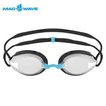 迈俄威MADWAVE泳镜M92610镀银/黑