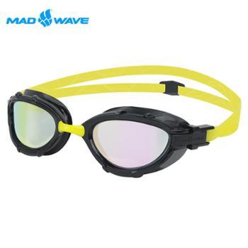 迈俄威MADWAVE镀彩泳镜M93010