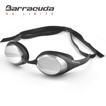 巴洛酷达BarracudaOptics系列近视泳镜#94190淡灰镀银/灰
