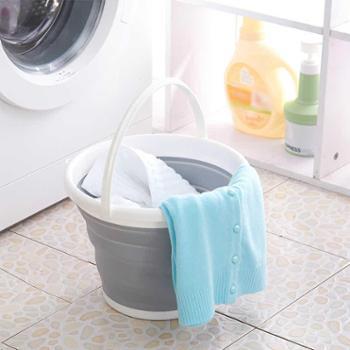 艾加达 手提式可折叠水桶便携式户外洗车钓鱼塑料储水桶家用洗衣泡脚洗澡