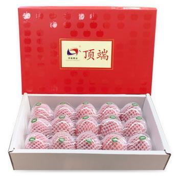 顶端果业 陕西洛川红富士苹果礼盒装 15枚(果径75mm)
