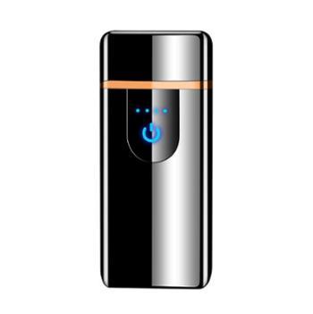 腾洪指纹触摸感应USB充电防风打火机礼盒包装