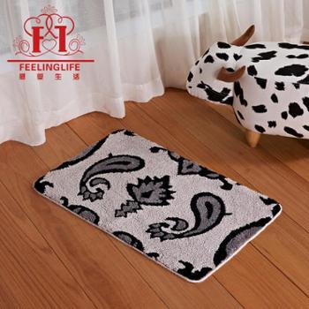感受生活家居超细纤维涤纶浴室防滑地垫脚垫地毯
