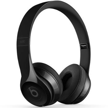 毕慈/BEATS Solo3 Wireless 头戴式蓝牙无线耳机 beats耳机 亮黑/丝缎金