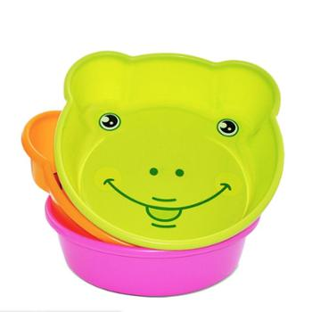 茶花脸盆家用小号婴儿可爱卡通儿童小盆宝宝盆子塑料盆塑料洗脸盆