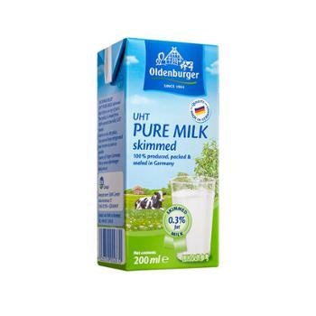 欧德堡 德国进口 欧德堡UHT脱脂牛奶 200ml*10盒