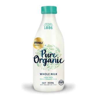 派慕 新西兰进口 纯然高钙全脂有机纯牛奶 800ml*2