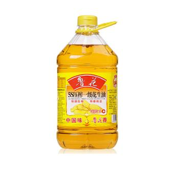 鲁花 5S 物理压榨 一级花生油 4L