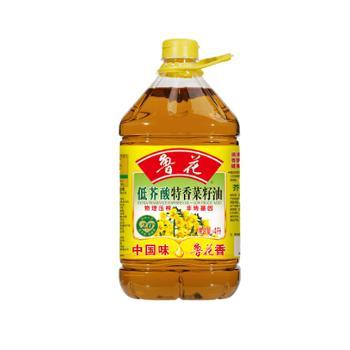 鲁花 低芥酸特香物理压榨菜籽油 4L