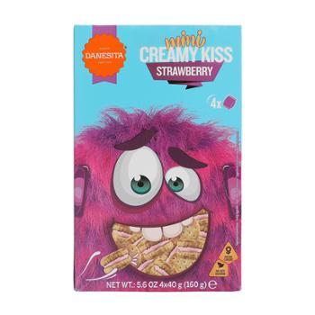 丹妮丝塔 葡萄牙进口迷你草莓味夹心饼干 160g(40g*4)