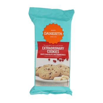 丹妮丝塔 葡萄牙进口白巧克力蔓越莓饼干 200g