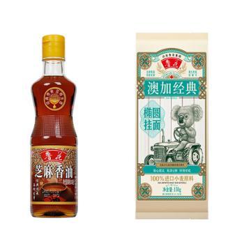 鲁花 芝麻香油+经典椭圆挂面 350ml+150g