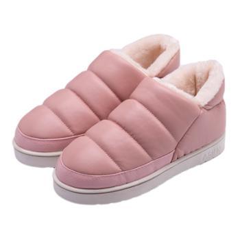 安尚芬棉拖鞋pu皮防水防滑保暖