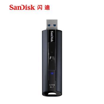 闪迪U盘128gUSB3.1固态闪存盘CZ880商务加密高速金属u盘128g