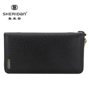 Sheridan喜来登长款男士牛皮商务手包黑色NL160931S