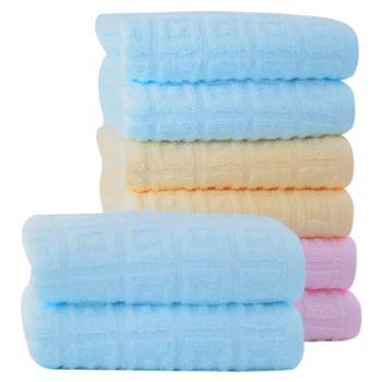 洁丽雅 4条装柔软吸水柔软舒适成人情侣 纯棉