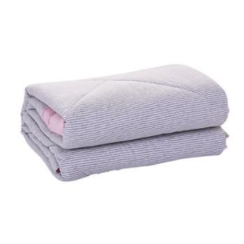 青九纺日式天竺棉夏凉被针织夏被空调被条纹单人双人薄被子床上用品