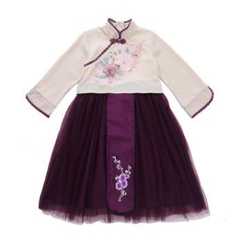 漫露可女童汉服秋装儿童古装襦裙超仙中国风童装古风连衣裙小女孩仙女服