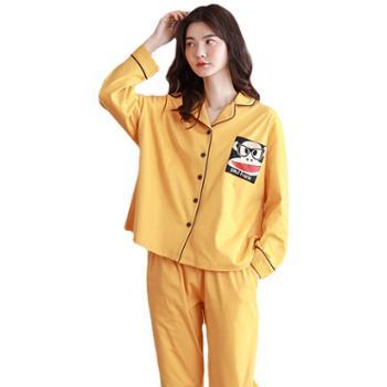 青年里 男女宽松大码可外穿睡衣两件套 全棉