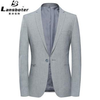 男士休闲西装纯色免烫青年修身小西装男薄款西服外套