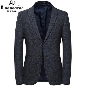 男士休闲西装中年西装外套男免烫修身便西男西装外套