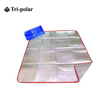 Tri-polar户外坐垫野营垫加大防潮野餐垫野餐装备双面铝膜垫隔热防潮垫旅行垫子防潮垫野营地毯