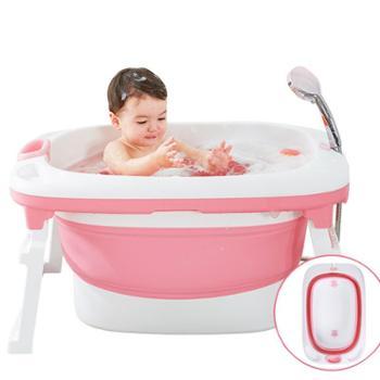 加大号婴儿洗澡盆新生儿可坐躺通用折叠大儿童洗澡桶宝宝浴盆浴桶
