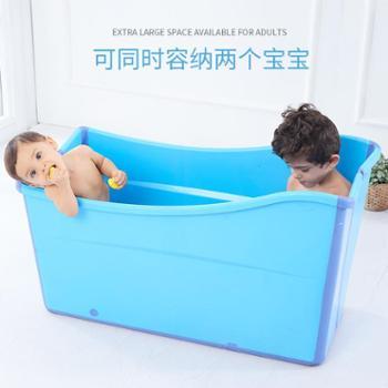大号儿童浴桶成人折叠保温浴盆宝宝坐躺洗澡盆游泳泡澡婴儿洗澡桶