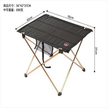 凹凸户外中号铝合金折叠桌 桌布泡茶几折叠桌烧烤野餐桌子