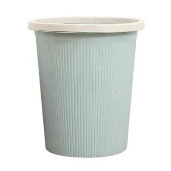 圆形垃圾桶家用厕所卫生间客厅厨房纸篓无盖欧式条纹垃圾筒 大号