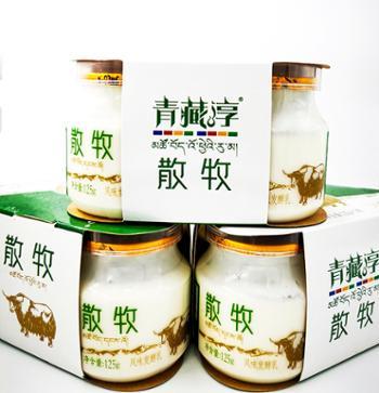 青藏醇高原牧歌散牧厚酸奶125克X12瓶
