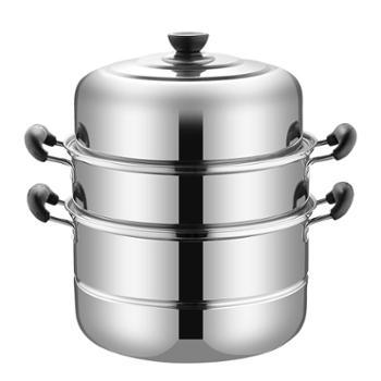 不锈钢蒸锅三层加厚家用小煤气灶电磁炉锅具