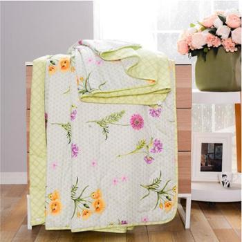 多喜爱家纺专柜同款磨绒夏被花语玲珑