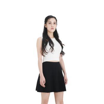 雪莲META针织精纺女士A字百搭短裙K273606