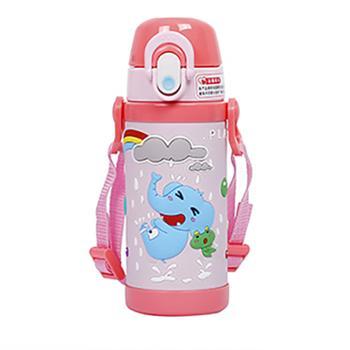 婴侍卫3D立体包胶儿童背带保温杯(350毫升)MLH8637-350