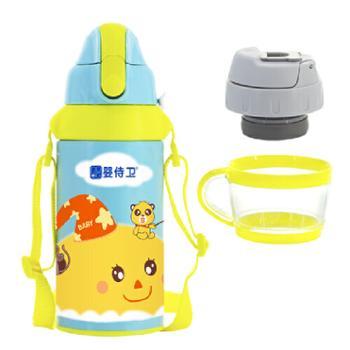 婴侍卫安全锁扣儿童双用保温水壶(500毫升/靛色)F726-A