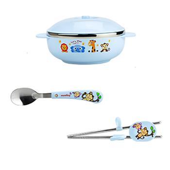 婴侍卫宝宝碗筷勺三件套KJ8207