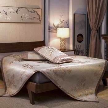 冰藤席凉席1.8m米床笠三件套单双人可折叠 夏凉席子1.5m