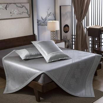 冰藤凉席床笠款双人1.5米1.8m床三件套加厚藤席折叠席子1.2