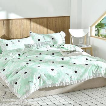2019夏季空调房床上用品 水洗棉夏被三件套 夏凉被搭配枕套一对装 夏凉套装床品