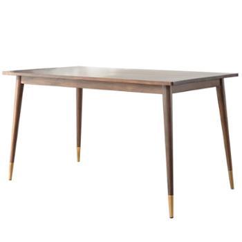 餐桌椅组合小户型胡桃木家具简约家用长方形实木餐桌