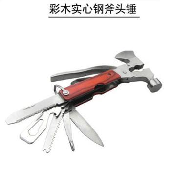 逃生锤彩木柄多功能车载安全锤全实心钢斧头锤