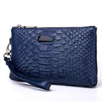 欧美新款鳄鱼纹手拿包钱包*新款学生迷你皮夹手抓包