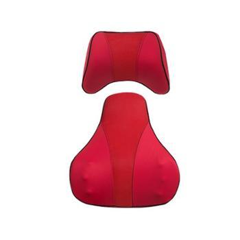 网易严选车载记忆棉颈枕靠垫套装网易红