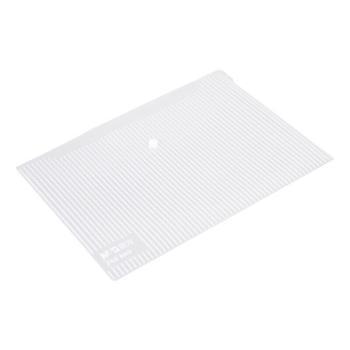晨光(M&G)A4透明竖条纹纽扣袋按扣袋文件袋资料袋12个装ADM95280