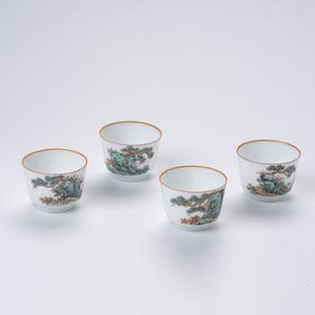 私享·金和汇景·陈章涛手作粉彩客人杯(4选1)