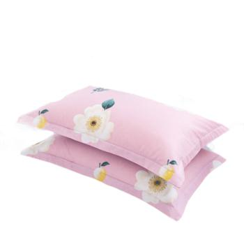 蕊丝坊/RIOUS简约纯棉枕套一对装48*74cm