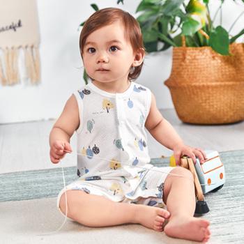 威尔贝鲁新生婴儿连体衣纯棉宝宝哈衣夏季薄款