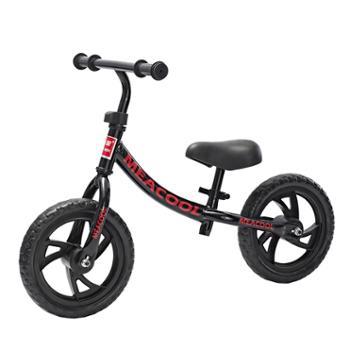 美途儿童平衡车滑步车黑色红色